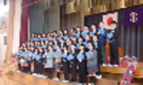 北六小の卒業式がありました。