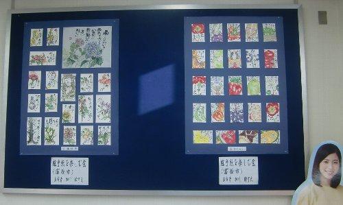 絵手紙を杜の都信用金庫さんにて展示しています!