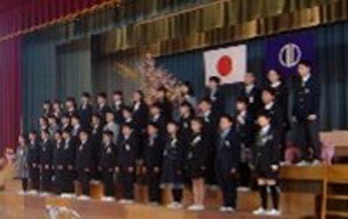 北六小の卒業式
